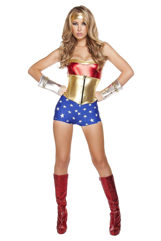 Disfraz de Roma de la mujer 3 piezas Lusty American Super Heroína ...