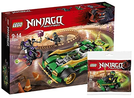 Lego Ninjago 70641 – Lloyds deportivos Noche + Lego 30532 Ninjago Turbo Bolsa, entretenimiento juguete