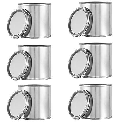 amazon com 6 pcs metal paint cans with lids 1 4 pint size empty for
