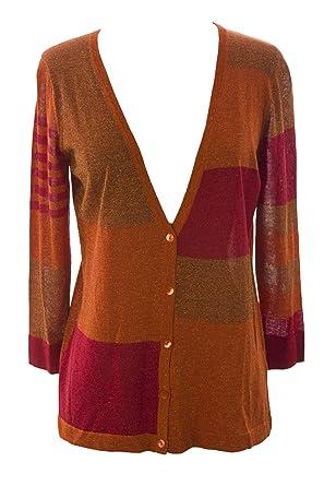 30fb1af406c8 August Silk Women s Petite Rust Silk Blend Colorblock Cardigan at ...
