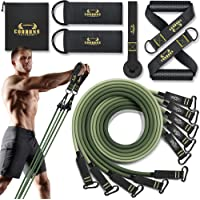 Resistance Bands Set - 150LBS/200LBS/250LBS Exercise Bands with Handles, Door Anchor, Fitness Bands for Men and Women…