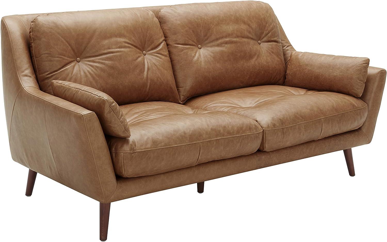 Rivet Brooker Down-Filled Mid-Century Sofa, 76\