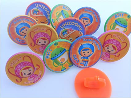 Incredible Amazon Com Unbranded 12 Team Umizoomi Rings Cupcake Toppers Personalised Birthday Cards Epsylily Jamesorg