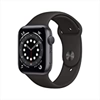 Apple Watch Series 6 (GPS, 44mm) - Space Grey Aluminium Case with Black Sport Band