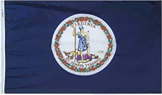 product image for Annin Flagmakers Model 145660 Virginia State Flag 3x5 ft. Nylon SolarGuard Nyl-Glo 100% Made in USA to Official State Design Specifications.