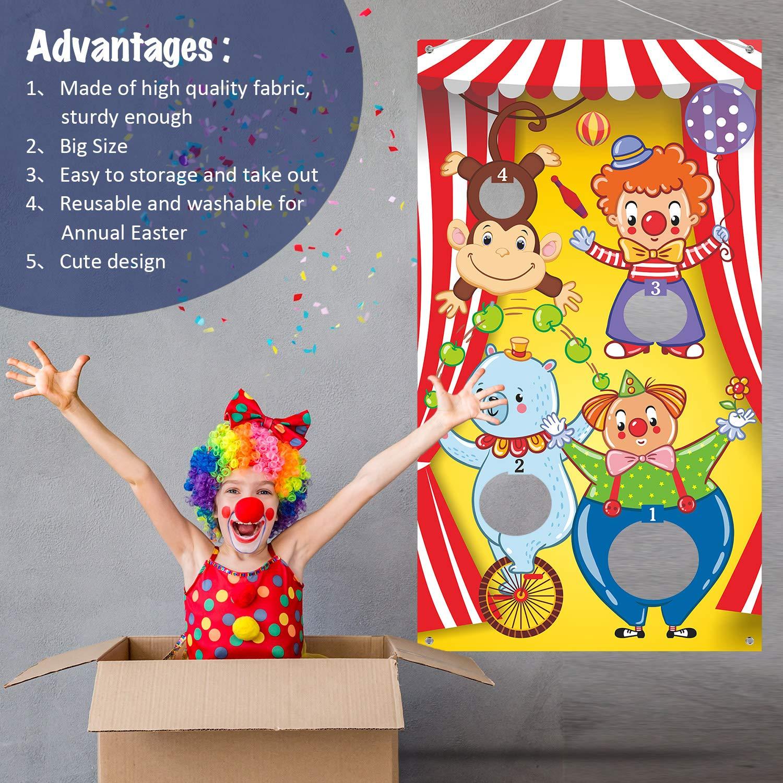 Tolle Karneval Dekorationen und Lieferanten Lustiges Karneval Spiel f/ür Kinder und Erwachsene in Karneval Party Aktivit/äten Zirkus Tier Karneval Toss Spiele mit 3 Bohne Tasche