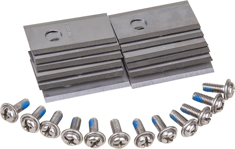 Worx WA0190 Juego 12 cuchillas de recambio (1 agujero), Negro