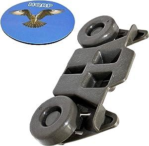 HQRP Wheel Compatible With Maytag MDB8949SBB0 MDB8959SAB0 MDB8969SDH1 MDB8979SEZ0 MDB8979SFZ2 MDB8989SHB0 MDB8989SHW0 MDB8989SHZ0 MDBH979SAB0 MDBH979SAB1 MDBH979SAM0 MDBH979SAM1 Dishwasher + Coaster