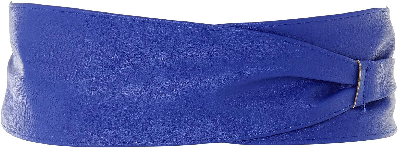 CAN14987-CHA-OS KRISP Soft Faux Leather Self Tie Wrap Around Obi Waist Belt