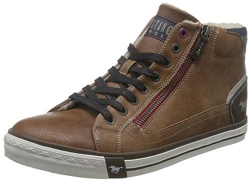 Mustang 4072-601-301, Zapatillas Altas Para Hombre, Marrón (Kastanie), 43 EU: Amazon.es: Zapatos y complementos