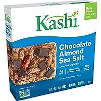 Kashi Chewy Chocolate Almond Sea Salt Granola Bars - Vegan, (Each 6 Count of 1.2 oz Bars) 7.4 oz, Pack of 8