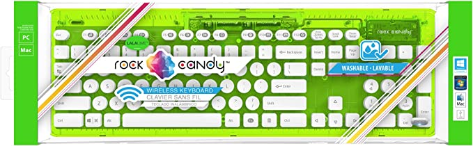 PDP - Teclado Rock Candy Wireless, Color Verde Lima (PC/Mac), teclado QWERTY español