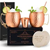 Moscow Mule Copper Mugs Set of 2 - 100% Solid Copper Mug