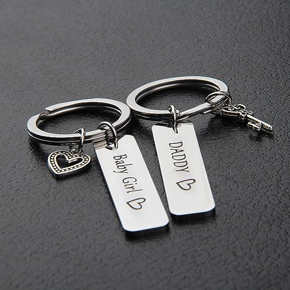Amazon.com: MAOFAED - Llavero para padre e hija, regalo para ...