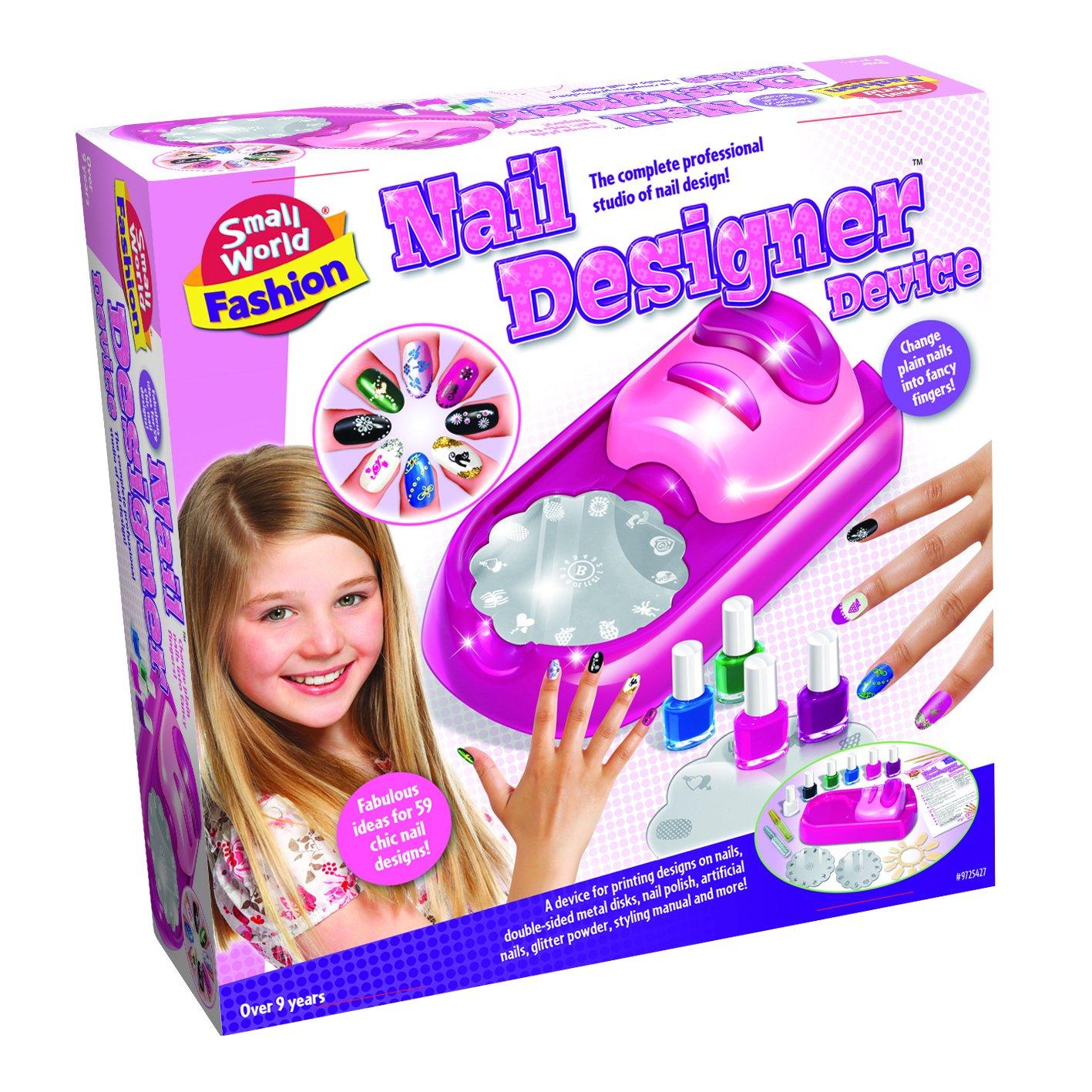 Amazon.com: Small World Toys Fashion - Nail Designer Device Makeup ...