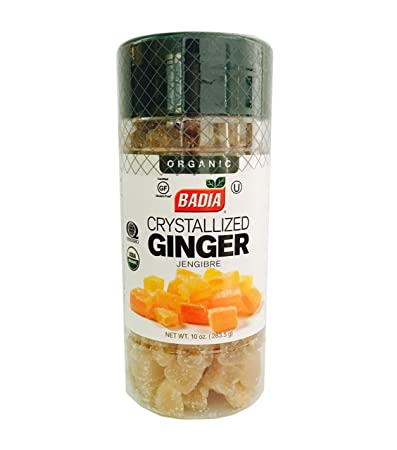 2 PACK Organic Ginger Crystallized Candied Cubes/Jengibre dulce Gluten Free 2x10 oz