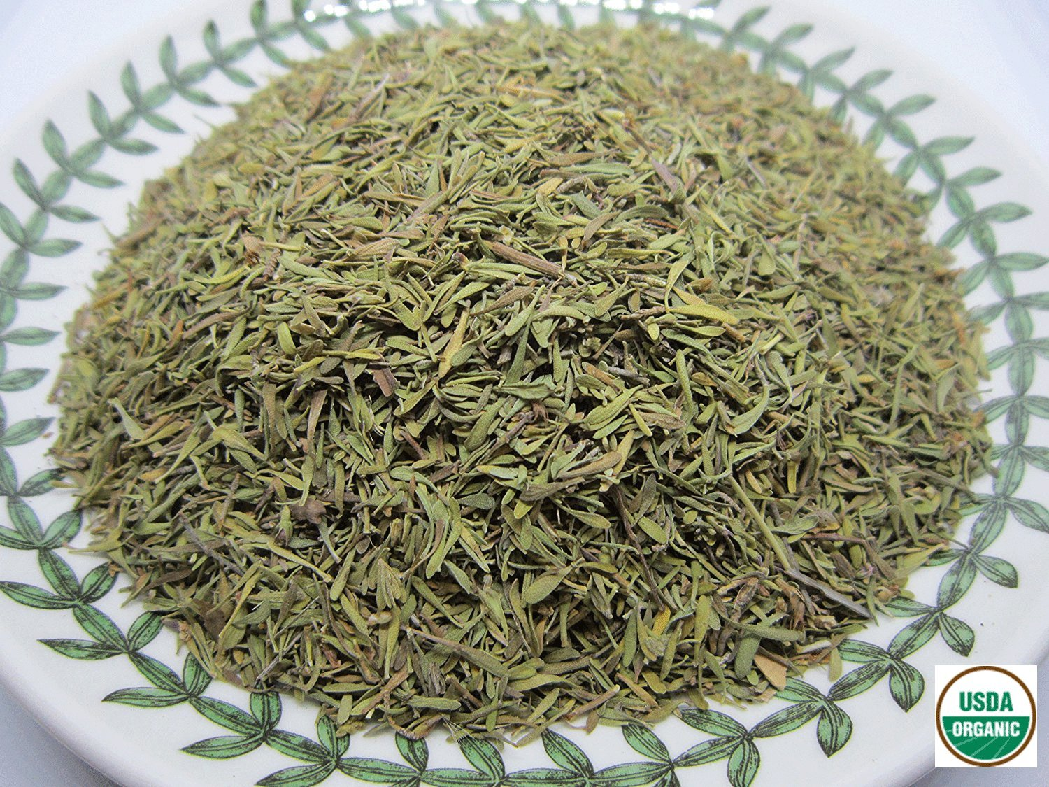 Organic Thyme Leaf - Thymus vulgaris Dried Loose Leaf by Nature Tea (02 oz)
