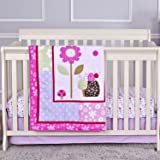 Dream On Me 3 Piece Crib Bedding Set, Spring Time