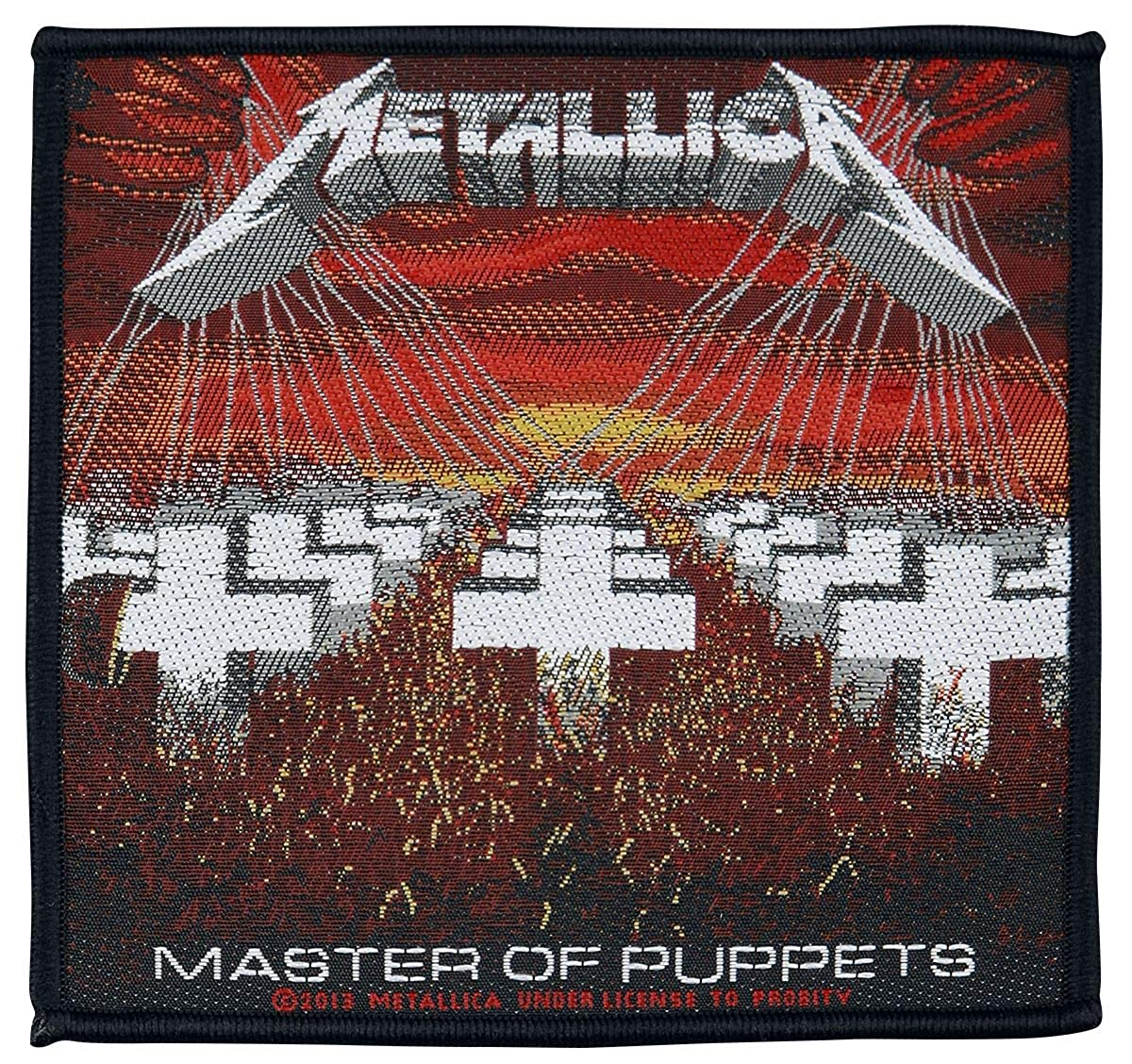 Metallica Master of Puppets Patch Black