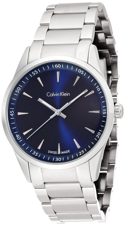 Amazon.com: Calvin Klein K513114N Mens Bold Silver Steel Bracelet Watch: Watches