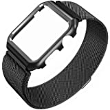 Compatible with Apple Watch 40mm Magnetic Watch Mesh Strap+Protective Case, ZXK CO Milanese Loop Band Series 4 Stainless…
