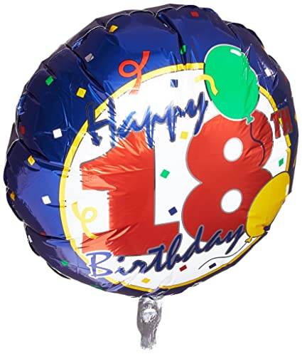 18quot Happy 18th Birthday Foil Balloon Qualatex For Party