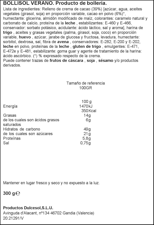 Dulcesol - Bollisol Verano (4 unidades) 300 g: Amazon.es: Alimentación y bebidas