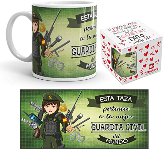 Kembilove Taza de Café de la Mejor Guardia Civil del Mundo – Taza ...