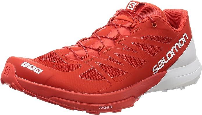 Salomon S/Lab Sense 6, Zapatillas de Trail Running Unisex Adulto, Rojo (Racing Red/White/White 000), 42 EU: Amazon.es: Zapatos y complementos