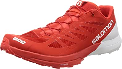Salomon S-Lab Sense 6 Unisex Trail Running Shoes - Racing Red/White/White [Shoe Size:Uk 6.5 / Usw 8 / Usm 7 /Eu 40]