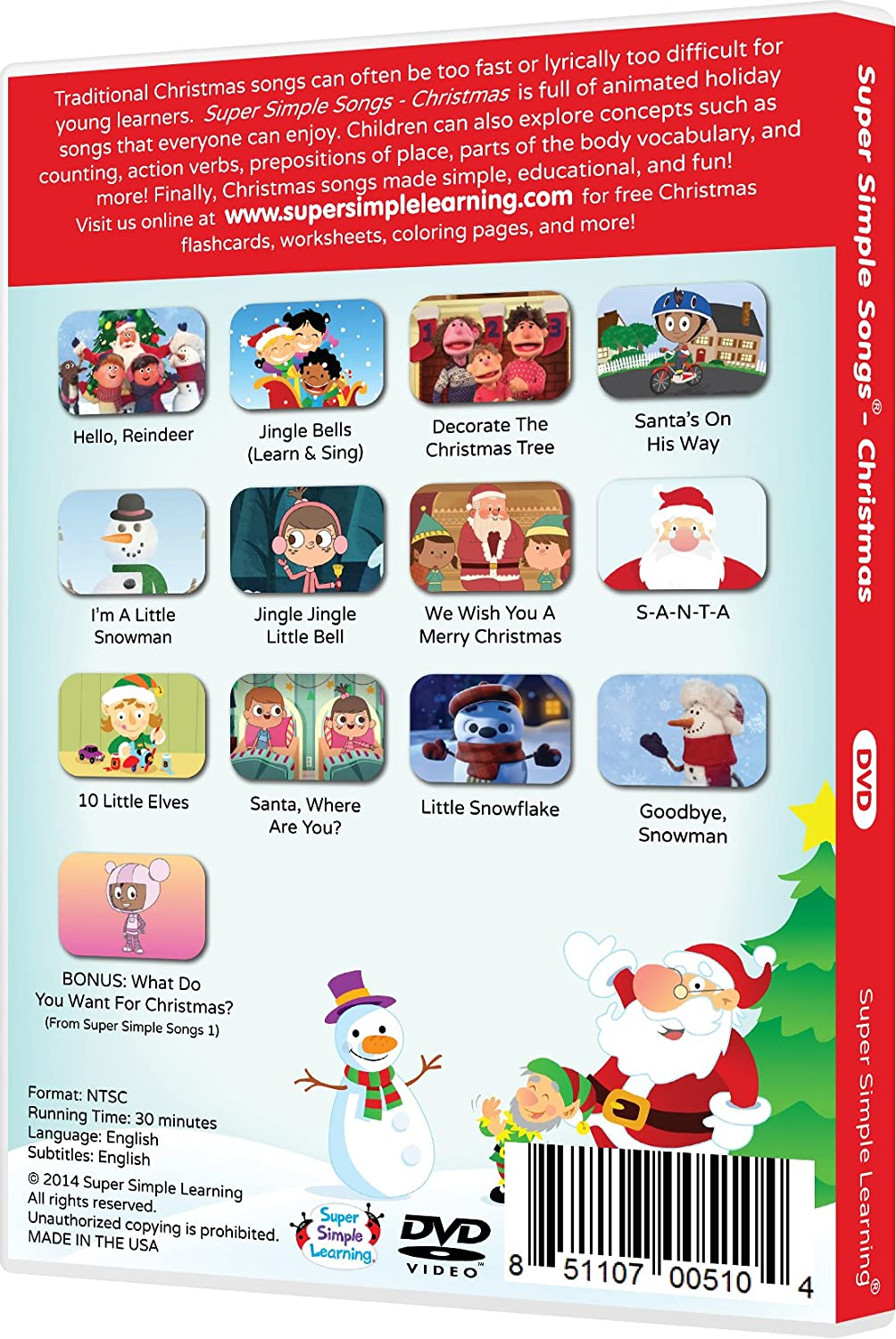 super simple songs christmas dvd amazoncouk dvd blu ray - Super Simple Songs Christmas
