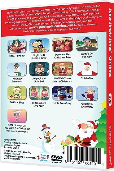 Workbook christmas grammar worksheets : Amazon.com: Super Simple Songs - Christmas DVD: Movies & TV