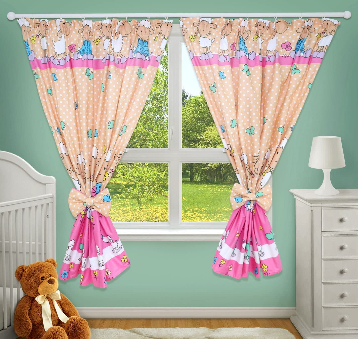 Luxury Decorative Curtains for Baby Room Matching with Our Nursery Bedding Sets Hearts