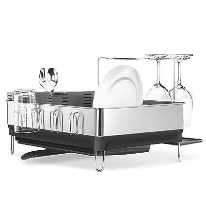 2dc8f5f96723 Amazon.com - simplehuman Kitchen Steel Frame Dish Rack With Swivel ...