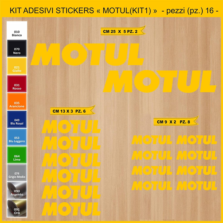Ecoshirt 1Z-ZIL7-EV4I Motivo: Motul RIF: Dp112 Autofkleber 5 cm Adesivi per Moto