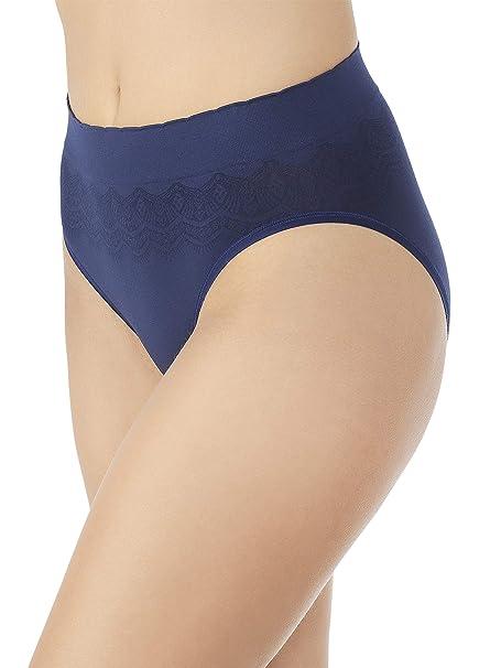 eb53c7e7719d Vanity Fair Women's No Pinch-No Show Seamless Hi Cut Panty 13171, Ghost Navy