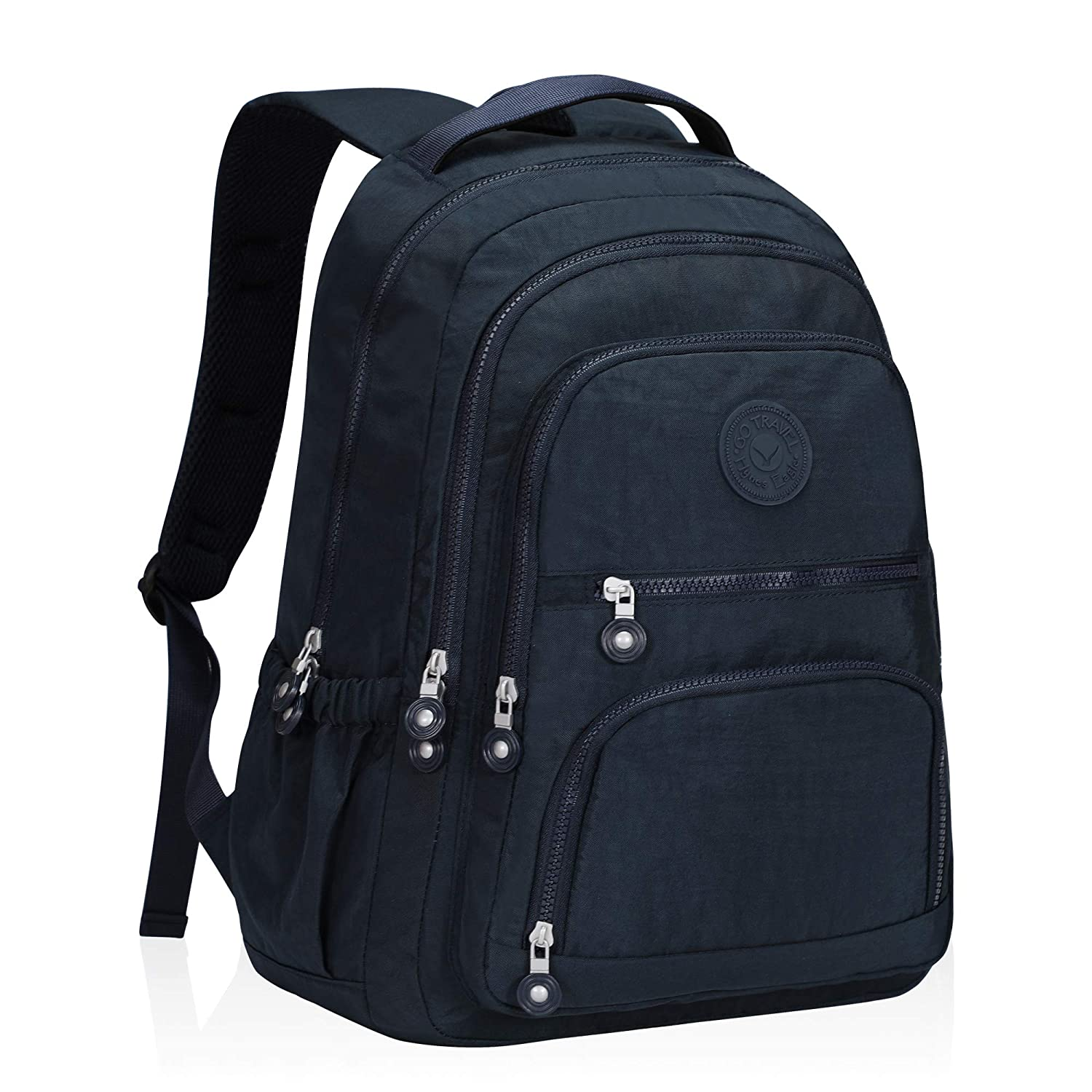 a9fe231c6991 Hynes Eagle School Backpack Student Casual Daypack Laptop Backpack Fits  15.6 inches Navy Blue