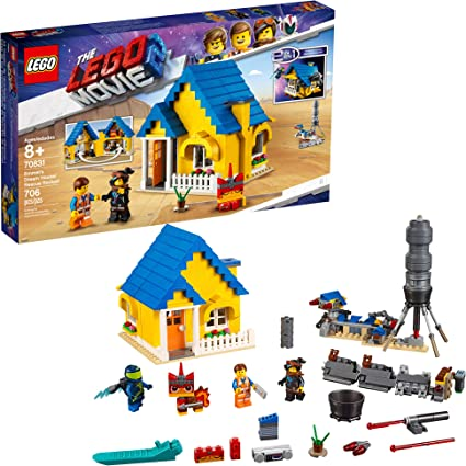 Amazon Com Lego The Lego Movie 2 Emmet S Dream House Rescue Rocket 70831 Building Kit Pretend Play Toy House For Kids Age 8 706 Pieces Toys Games