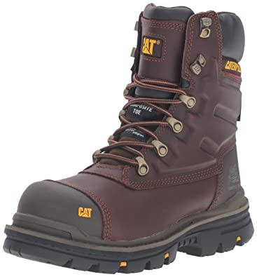"Caterpillar Mens Premier 8"" Waterproof TX Comp Toe Industrial and Construction Shoe, Moon Dance"
