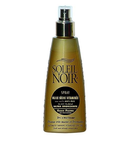 Soleil Noir 43 Aceite seco ultra bronceador en espray con vitaminas y sin filtro
