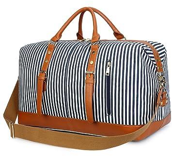 Amazon.com: Bluboon - Bolso de viaje para mujer, de lona ...