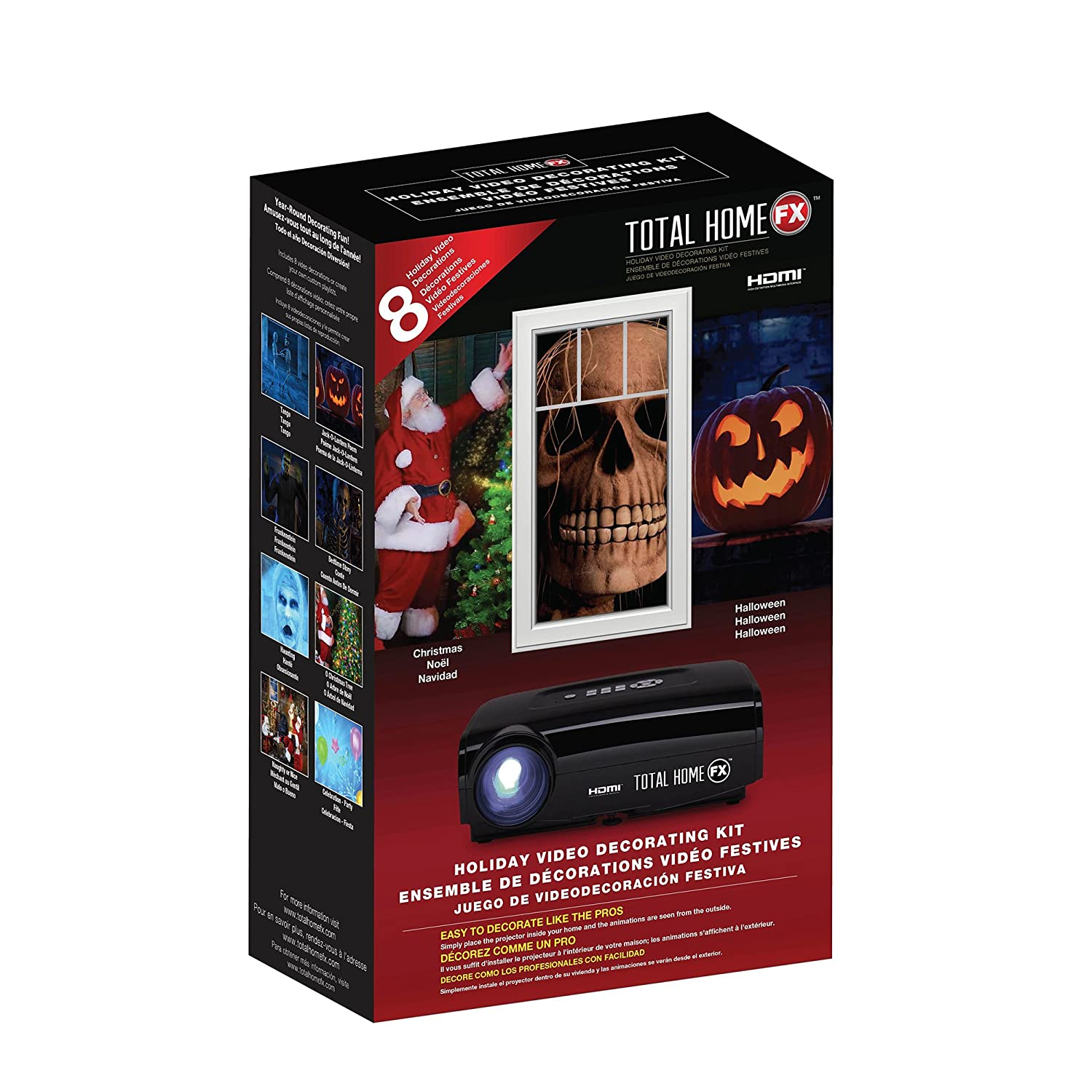 amazoncom total homefx plus digital projector decorating kit hdmi capable garden outdoor