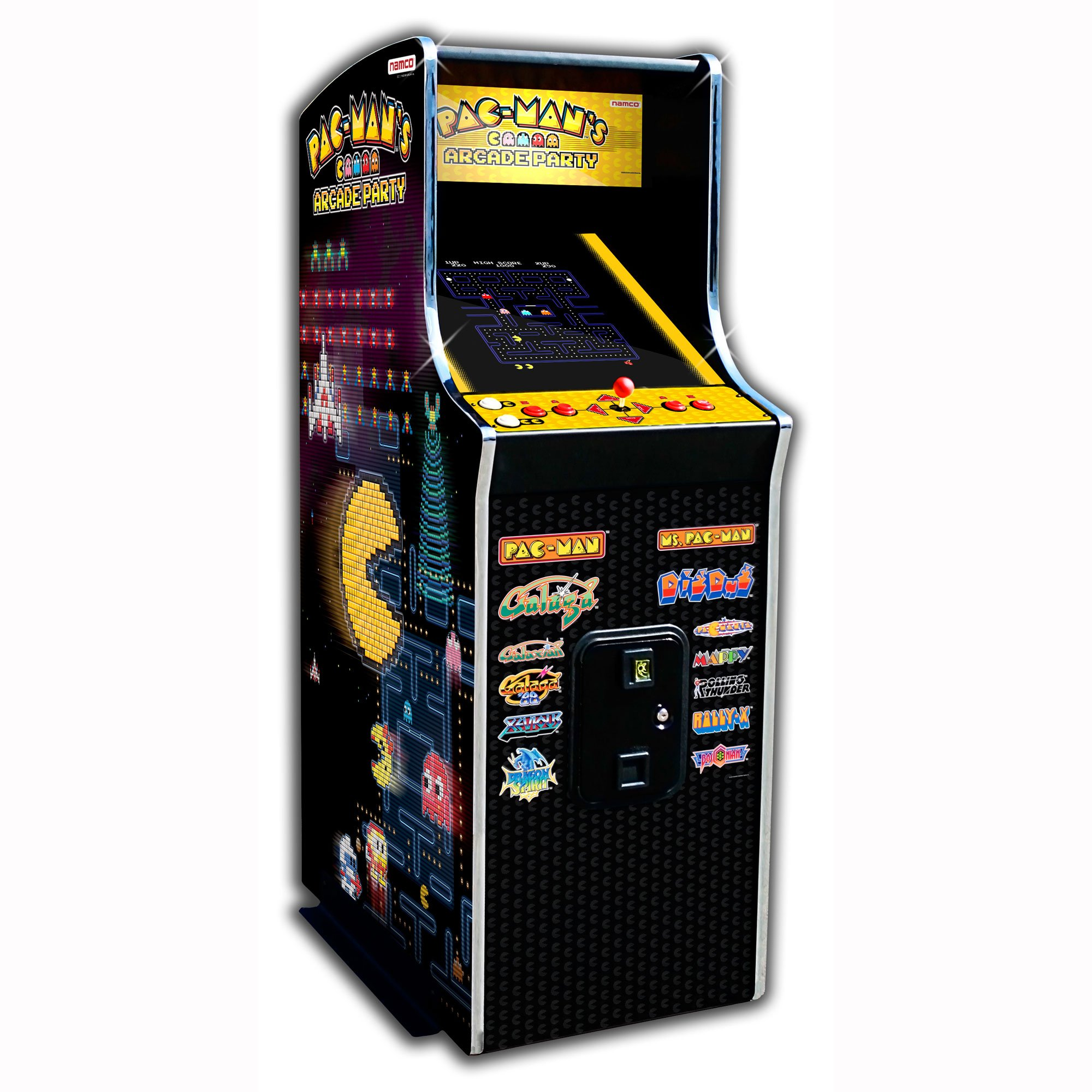 Namco Pac-Mans Arcade Party Coin-Op Upright Game Cabinet