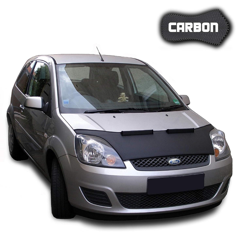 Bonnet bra Fiesta 6 CARBON Stoneguard Protector Hood Bra Car Bonnet Front End Mask Cover Tuning NEW Autosattlerei Roganov