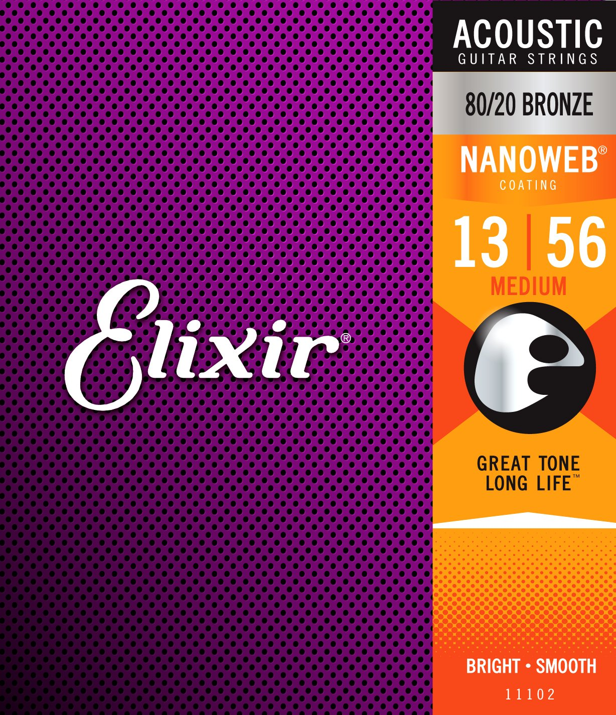 Amazon Elixir Strings 8020 Bronze Acoustic Guitar Strings W