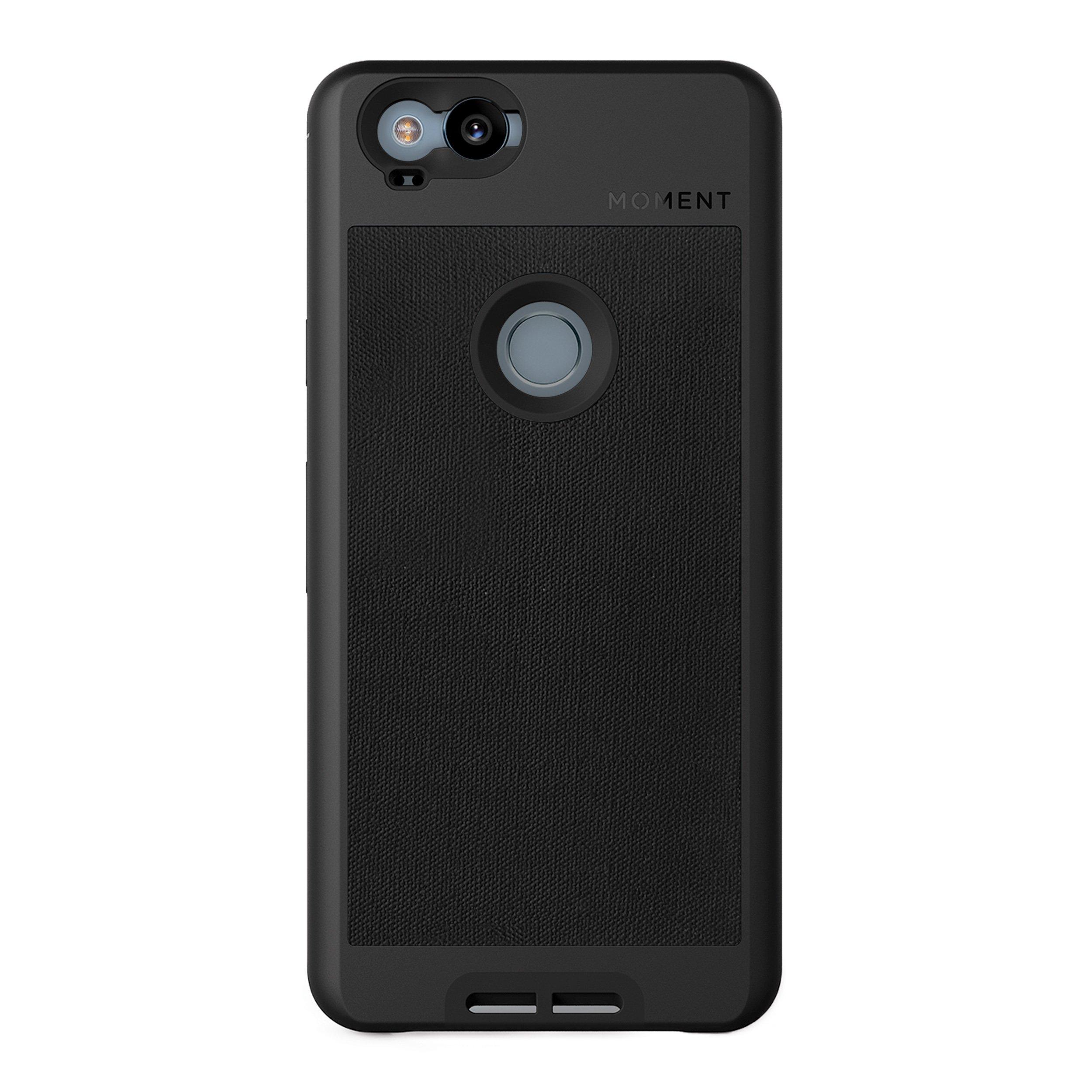 ویکالا · خرید  اصل اورجینال · خرید از آمازون · Pixel 2 Case || Moment Photo Case in Black Canvas - Thin, Protective, Wrist Strap Friendly case for Camera Lovers. wekala · ویکالا