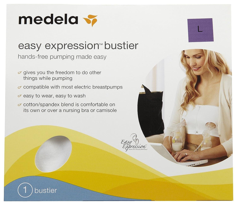 Large by Medela Black Medela Easy Expression Hands-Free Bustier