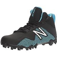 New Balance Boys' Freeze LX JR Lacrosse Shoes, Black/Blue, 4 W US Big Kid