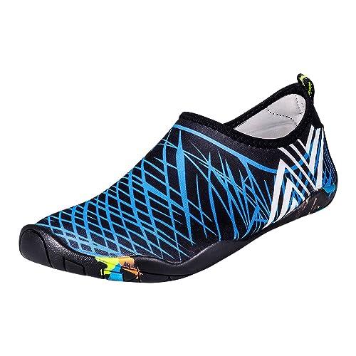 UPhitnis Skin Shoes Quick-Dry Hombres Mujeres niños Zapatillas para el Agua, los Zapatos