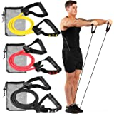 Gallant Resistance Exercise Bands Set with Handles - Light/Medium / Heavy Elastic Stretch Tubes Cords For Fitness Workout Training Home Use Men Women Heavy Duty Quality